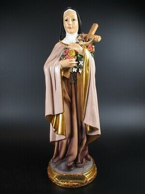 Holy Therese Theresa, 31 cm, Holy Statue Poly Figurine, New