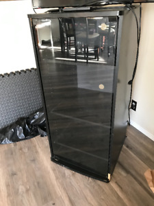 Storage/ entertainment stand with glass front