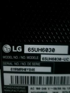 LG 65' 4K Smart Tv..Trade for Car