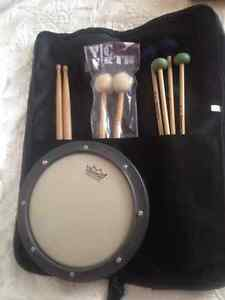 Practice Pad drum sticks & Mallot set