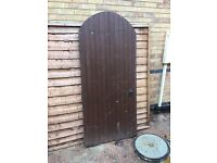 Wooden gate 6.5ft by 3ft with hinges etc