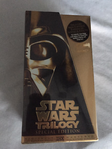 Star Wars Trilogy Special Edition THX VHS Gold Set -- New