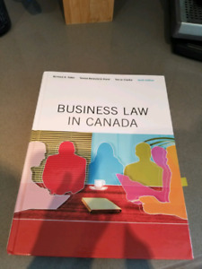 """Textbook """" Business Law in Canada"""" for BVC"""