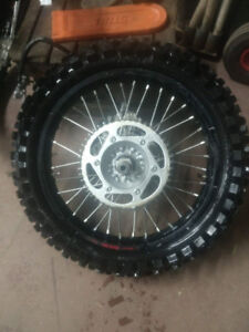 2017 Tansango  race rims with tires yz450f