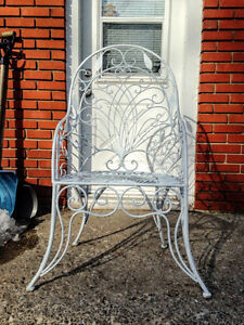 Superbe Chaise en Fer Forgé Vintage Wrought Iron Chair