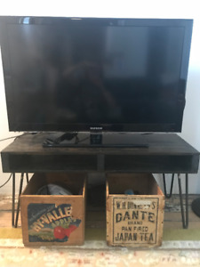 Handmade Industrial TV Stand - Perfect for condo life