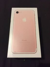Brand New Rose Gold iPhone 7 32gb UNLOCKED never been opened!