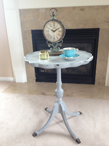 """Paris Grey"" Pedestal Table - Beautiful!"