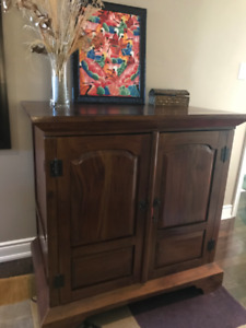 Solid wood cabinet or entertainment centre