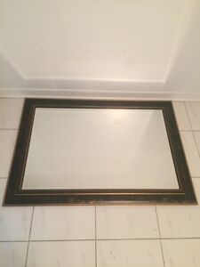 """Mirror 30""""x42"""" with frame + 2 hooks"""