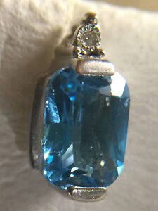 Natural blue topaz earring