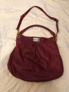 MARC BY Marc Jacobs Classic Q Hillier Hobo Bag Burgundy