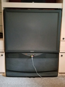 """45"""" Rear Projection TV: Free"""