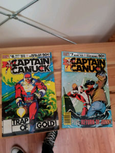 Captain Canuck #6 and #7 comics