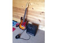 ARIA electric guitar + amp