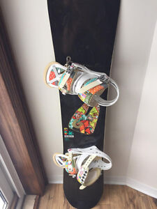 Womens Burton Snowboard Set and POC Helmet