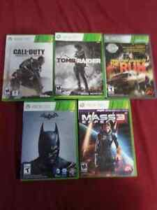 5 xbox 360 games and 1 rare ps2 game