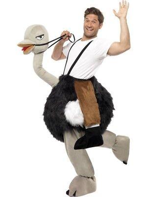 Strauss und Reiter Tierkostüm Plüsch Zoo Tier Vogel Strauß - Kostüm Reiten Tiere