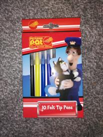 Postman pat 10 felt tip pens