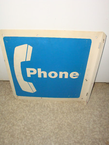 Metal Telephone Sign