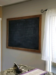 Large rustic chalk board