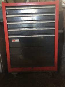 Rolliing tool chest cabinet loaded