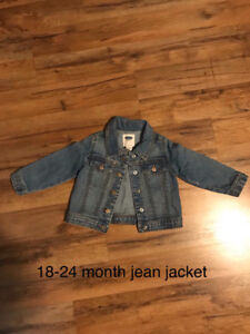 Toddler girls jean jacket