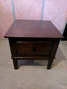 Ashley furniture solid wood end table