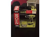 The Ryobi LLCDI18022 ONE+ Cordless Combi Drill with 2 x 1.3 Ah Batteries and 45 Minute Charger, 18