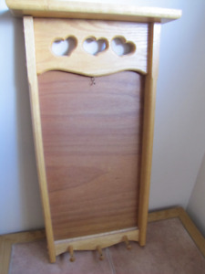 Wood Message Board with hooks $20