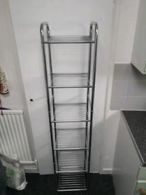 Metal shelving unit (approx 1200 x 30 x 30 mm)