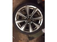 Alloy wheels with brand new tyres