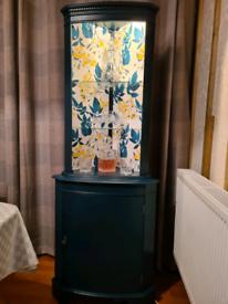 Corner drinks cabinet
