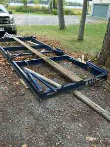 Steel cradle, 6 pads, collapsible, 15' X 6'