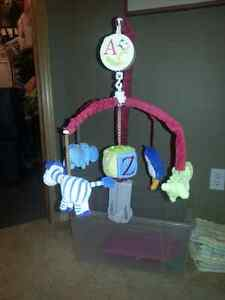 Alphabet Nursery Musical Crib Mobile