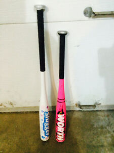 2 little girl bats-24 inches and 28 inches. approx ages 3-7 or 8