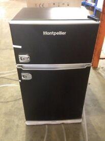NEW! Montpellier MAB2030K Black Mini Retro Fridge Freezer - Shop Soiled