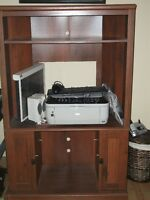 Printer and corner entertainment center