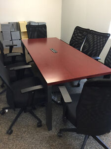 Conference Room Table w/ 6 office chairs