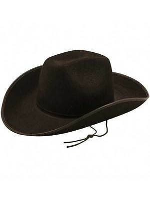 Texas Dallas Cowboy Hat Mens Ladies Wild West Fancy Dress Texan Cowgirl Black ()