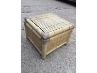Bamboo table box type thing £10 storeage blanket box foot stall