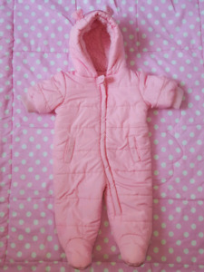 Baby girl snowsuit, winter clothing 3-6 months