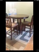 Solid 4 seater table