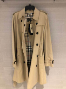 Burberry Kensington Heritage Long Trench, message for size.Tre