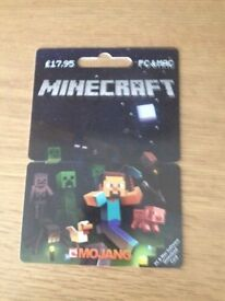 MINECRAFT pc and mac download card