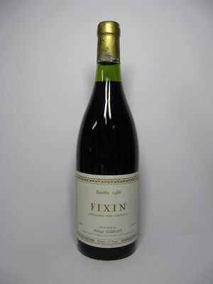 w62) 66,53€ /L 1 Fl. Wein 1986 Fixin Recolte Philippe Clerget France Rot 0,75L