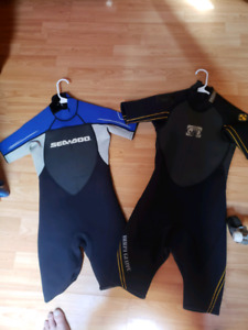 Size 10 and 12 kids wet suits for sale