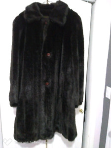Real Mink Fur Coat size s-m