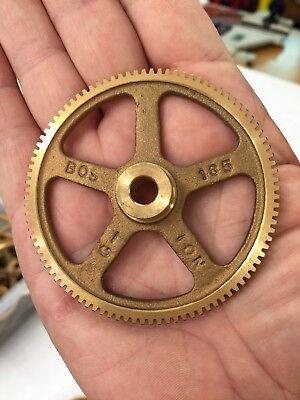 "BOSTON GEAR G-185 BRONZE SPUR GEAR FOR CLOCKS ETC. 32 PITCH 96 TEETH 5/16""  BORE"