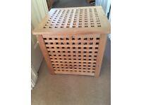 IKEA wooden storage box/ laundry basket/ table